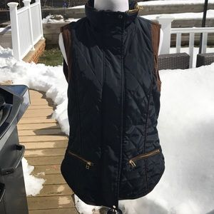 Zara amazed quilted vest perfect for spring .